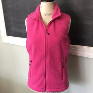 Vineyard Vines Pink Fleece Full Zip Vest S
